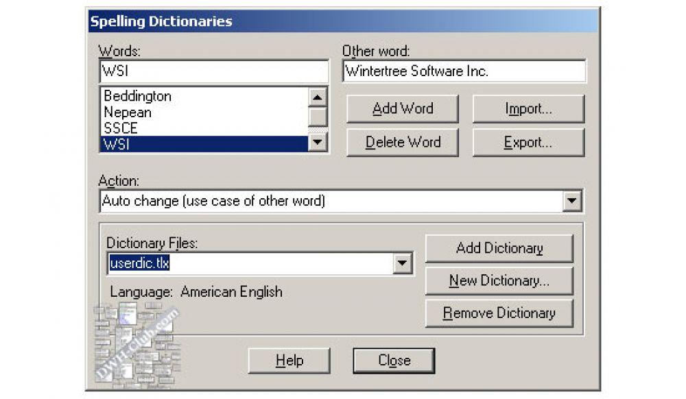 Проверка орфографии в ERwin 8r