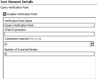 Query verification point screen capture