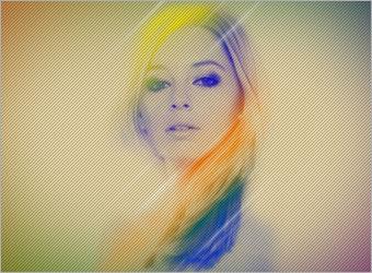 Цветовой эффект с помощью альфа канала