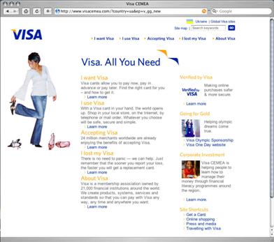 Visa www.visa.com