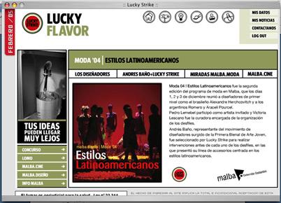 Lucky Strike www.luckyflavor.com.ar
