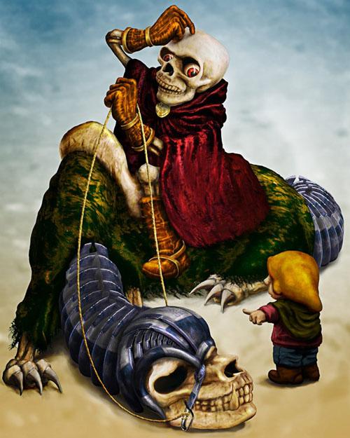Уроки photoshop фэнтези со смертью