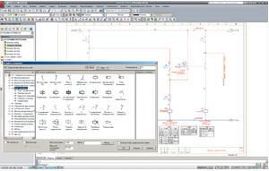 Из библиотеки выбирается нужный фрагмент схемы...  В комплект поставки AutoCAD Electrical включены обширные...