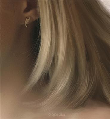 Рисуем волосы.  Урок от Olivi.