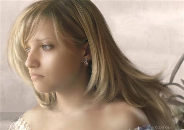 Источник. demiart.  Olivi.  Рисуем волосы в ФШ.  Такая вот простая схема быстрого рисования волос.  Лариса Гурьянова.