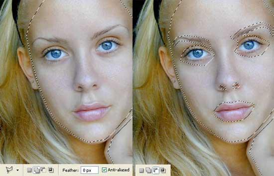 Гламурный макияж в Фотошоп.