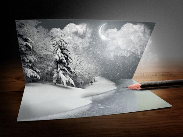 Необычная новогодняя открытка
