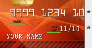 Дизайн кредитной карты