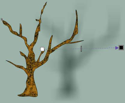 Тень дерева - урок Corel DRAW