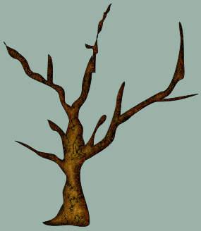 Объемный ствол дерева в Corel DRAW