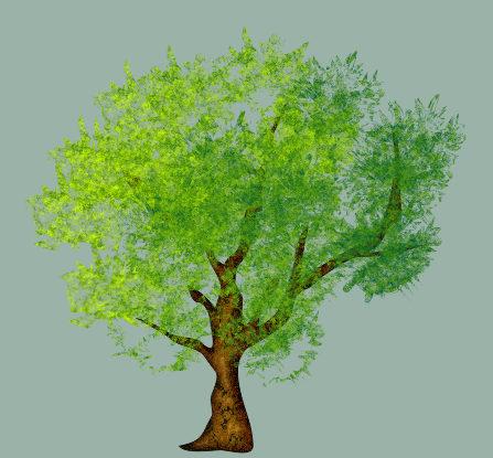 Почти готовое дерево в Corel DRAW