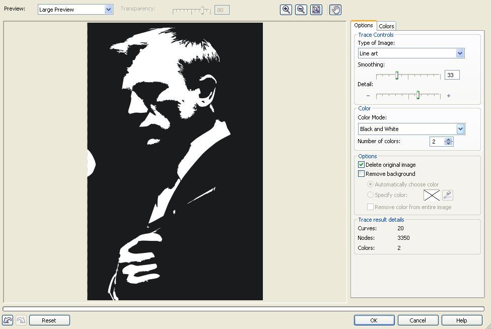 Как в кореле сделать черно белое изображение