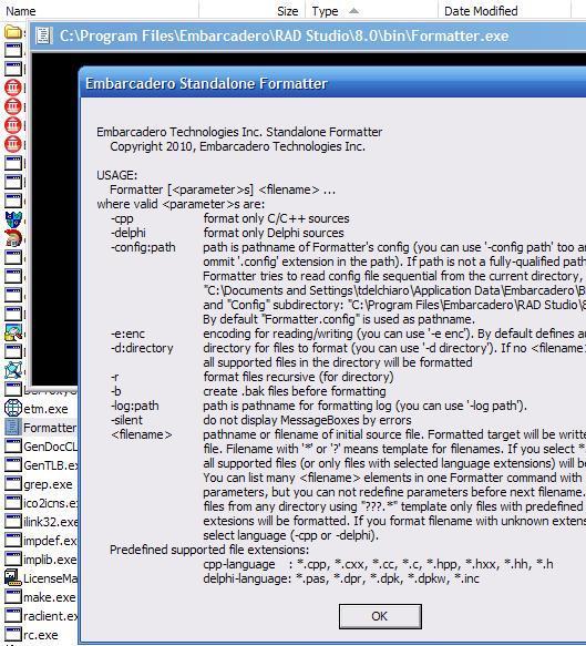 delphi параметры командной строки: