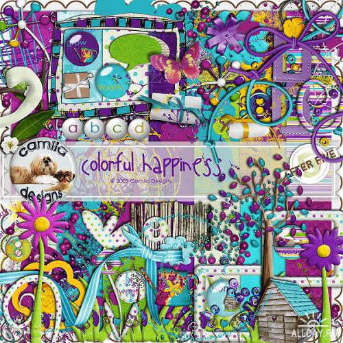 Скрап-набор Colourful Happiness