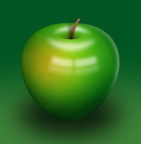 А вот какое яблоко получилось