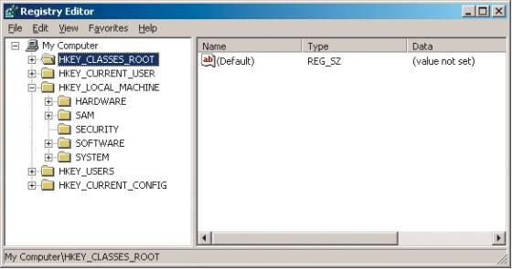 Реестры Windows 9х и NT Чтобы зайти в редактор реестра, необходимо