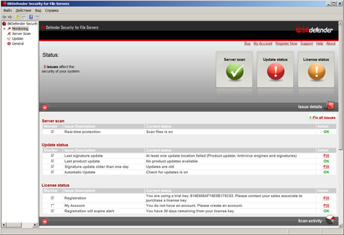 Обзор BitDefender Security for File Servers 3.5