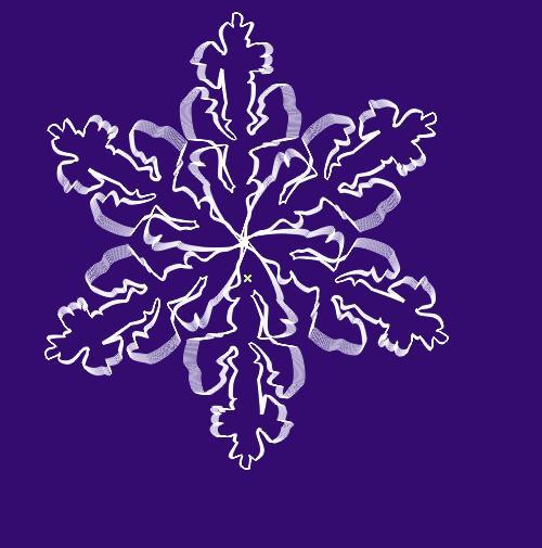 хрустальную снежинку.