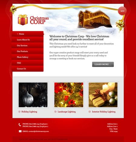 Новогодний дизайн сайта