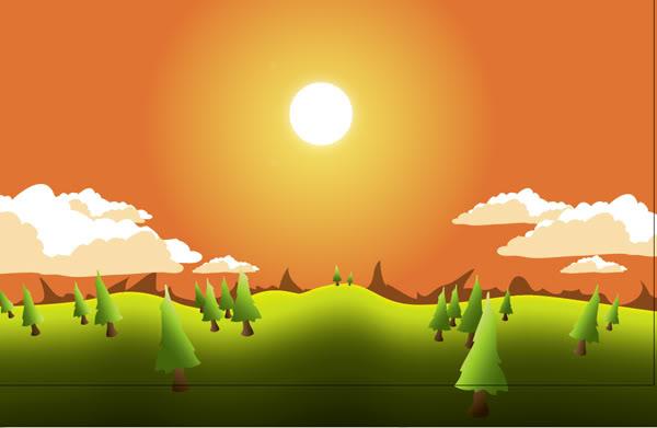 Уроки Adobe Illustrator: Создаем иллюстрацию пейзажа.