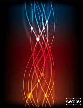 необычные светящиеся векторные линии