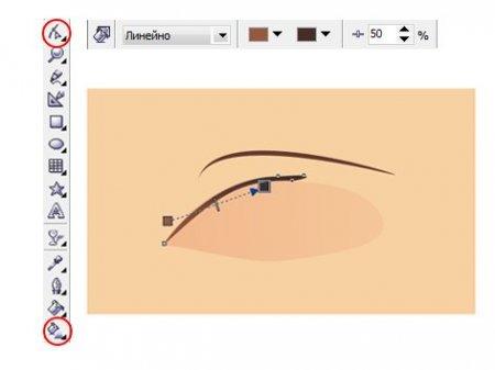 рисовать глаза в корел дро