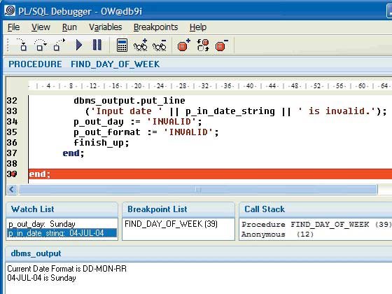PL/SQL Debugger (Keep Tool)