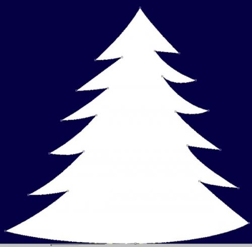 К слою с елкой примените Стили