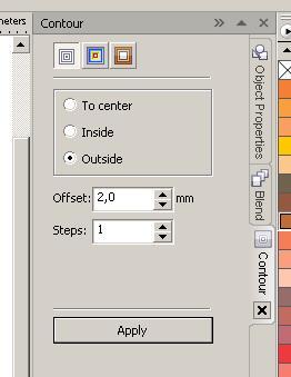 Уроки CorelDRAW. Контур в CorelDRAW, очень простой способ сделать контур. - Уроки CorelDRAW, бесплатные уроки CorelDRAW,.