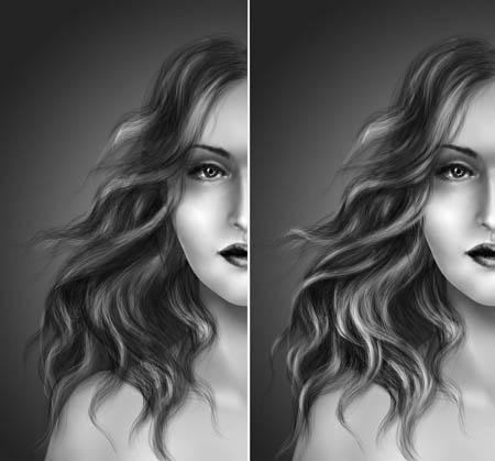 работа с волосами в фотошопе