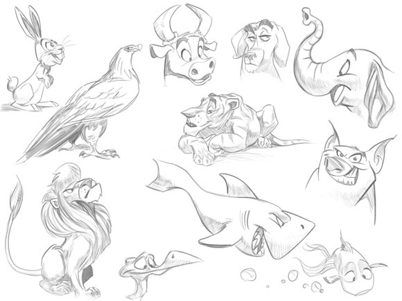 умении рисовать животных.