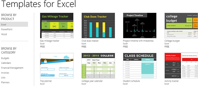 Excel Templates Office