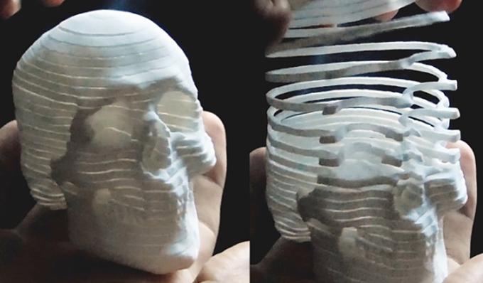 Распечатанный на 3D-принтере череп (видео) - 3D принтер ... 505849218fb48