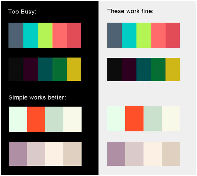 яркие цветовые схемы,