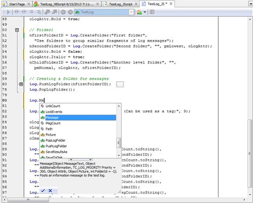 Testcomplete Script Editor