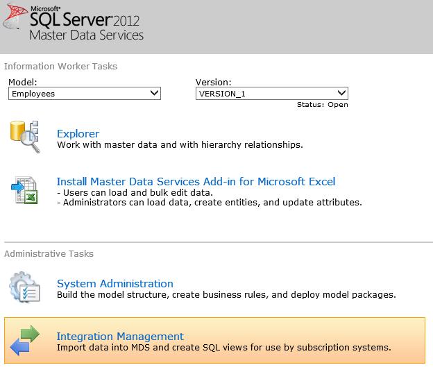 Практическое применение Master Data Services в MS SQL Server