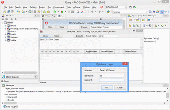 Connect to a database using dbExpress Driver for Microsoft SQL Server.