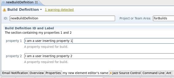 Рисунок 2. Редактор нового элемента конфигурации сборки, связанный с шаблоном определения сборки