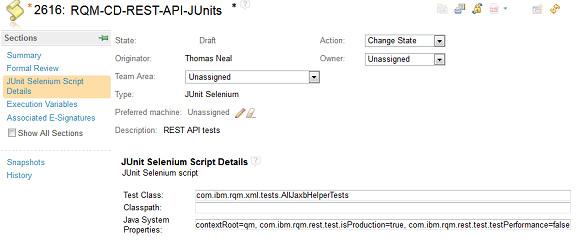 create test script
