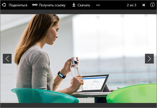 Снимок экрана: средство просмотра изображений в OneDrive для бизнеса в SharePoint Server2016 с пакетом дополнительных компонентов1