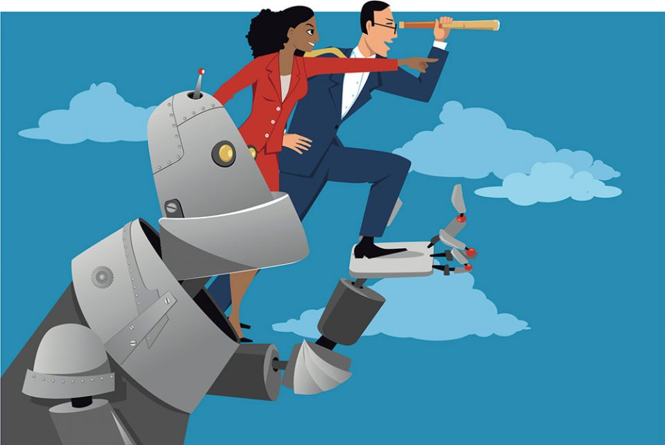 за цифровыми кентаврами - объединением человека и машины