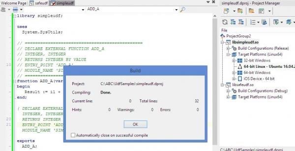 Создание InterBase UDF на Delphi для Linux