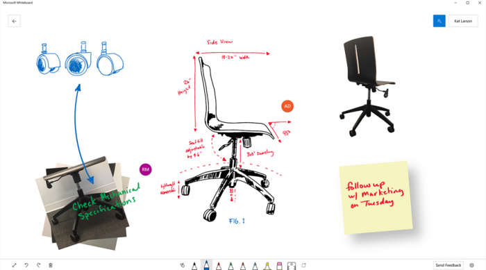 Доска Microsoft - цифровой холст для свободного совместного творчества