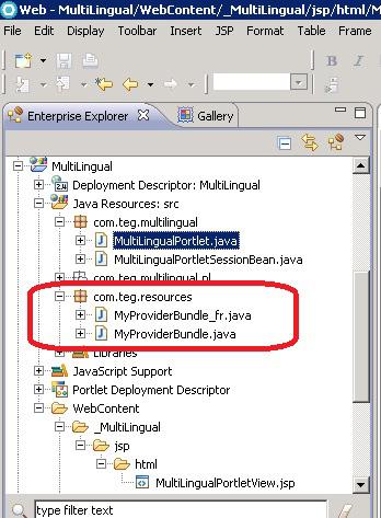 Рисунок 10. Структура пакета портлета в Rational Application Developer