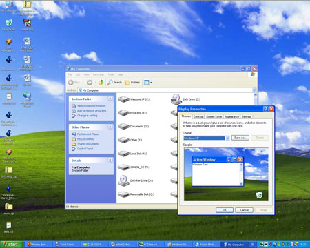 Стандартная тема в Windows XP