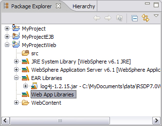 Image of Project Explorer workspace