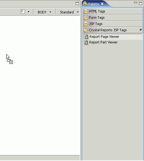 Рисунок 18. Перенос компонента Report Page Viewer component в JSP
