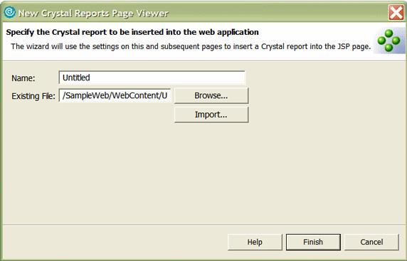 Рисунок 19. Диалоговое окно New Crystal Report Page Viewer