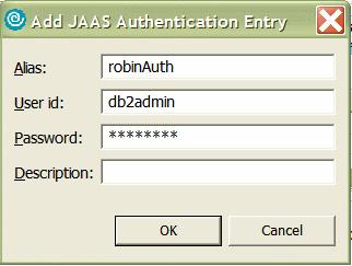 Рисунок 26. Установки в JAAS Authentication Entry