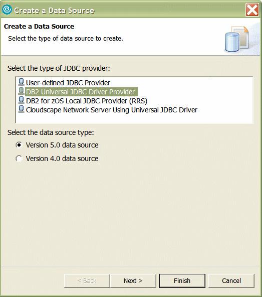 Рисунок 29. Создание источника данных (1 из 2)